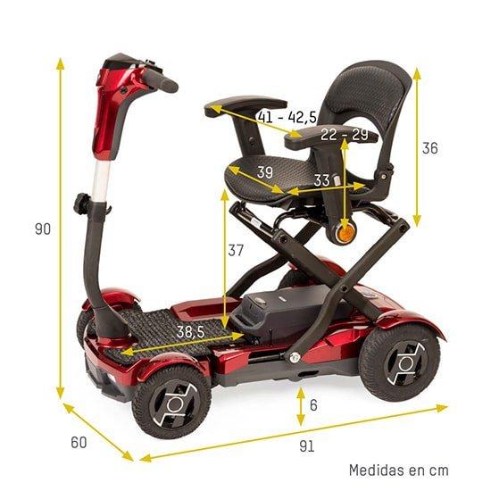medidas scooter i-laser plegable