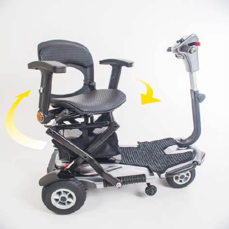 scooter plegable i-elite con asiento giratorio