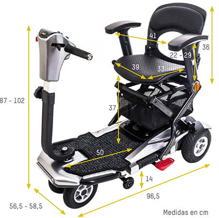 Medidas scooter plegable i-elite apex