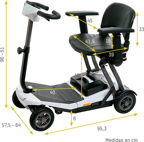 Medidas scooter plegable i-luna