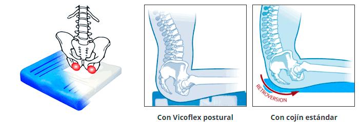 Cojín anatómico viscoflex plus