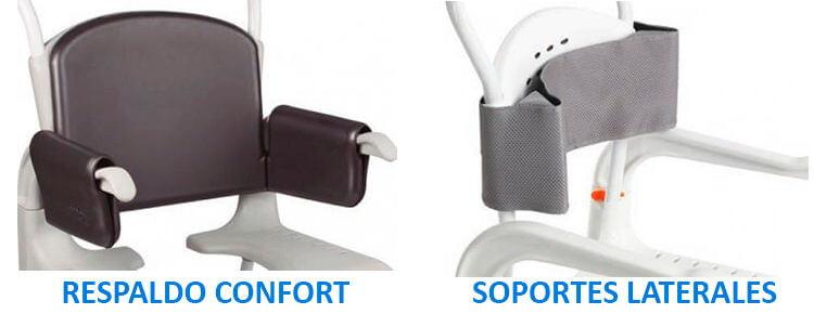 Soportes laterales y respaldo confort silla clean