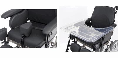 Taco abductor y mesita para silla basculante idsoft