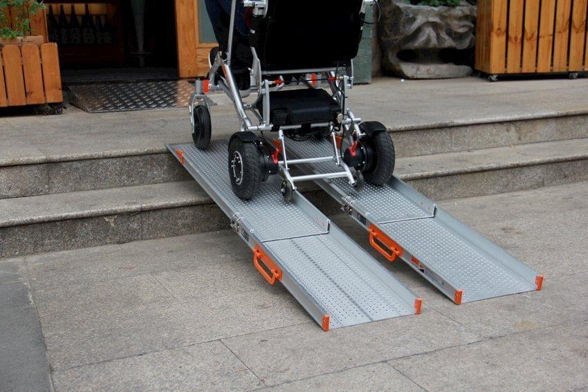 Rampas telescópicas de aluminio para sillas de ruedas