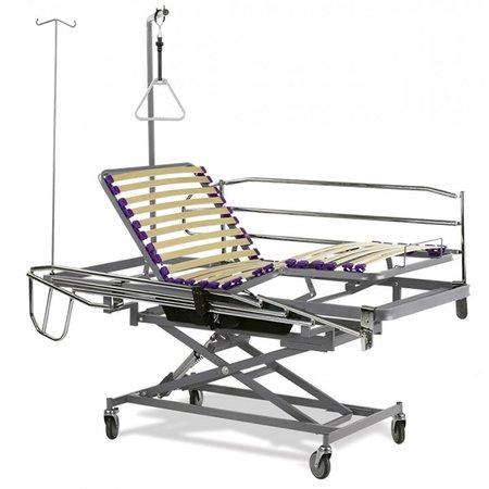 Cama articulada geriátrica con carro elevador