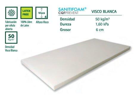 Colchoneta viscoelástica blanca
