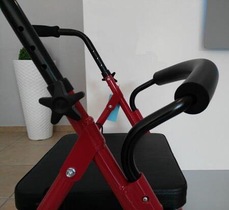 Andador 4 ruedas con asiento y respaldo