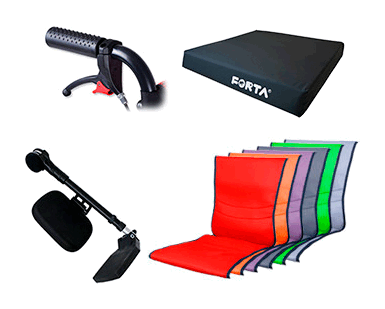 accesorios silla de ruedas basic forta