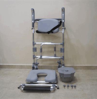silla de aseo plegable