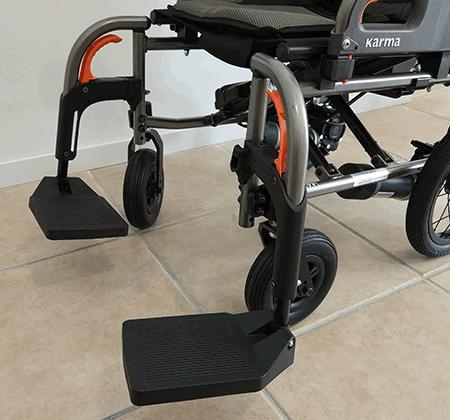 Reposapiés abatibles extraibles silla electrica