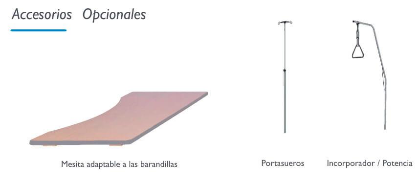 Accesorios opcionales cama articulada con elevación vertical