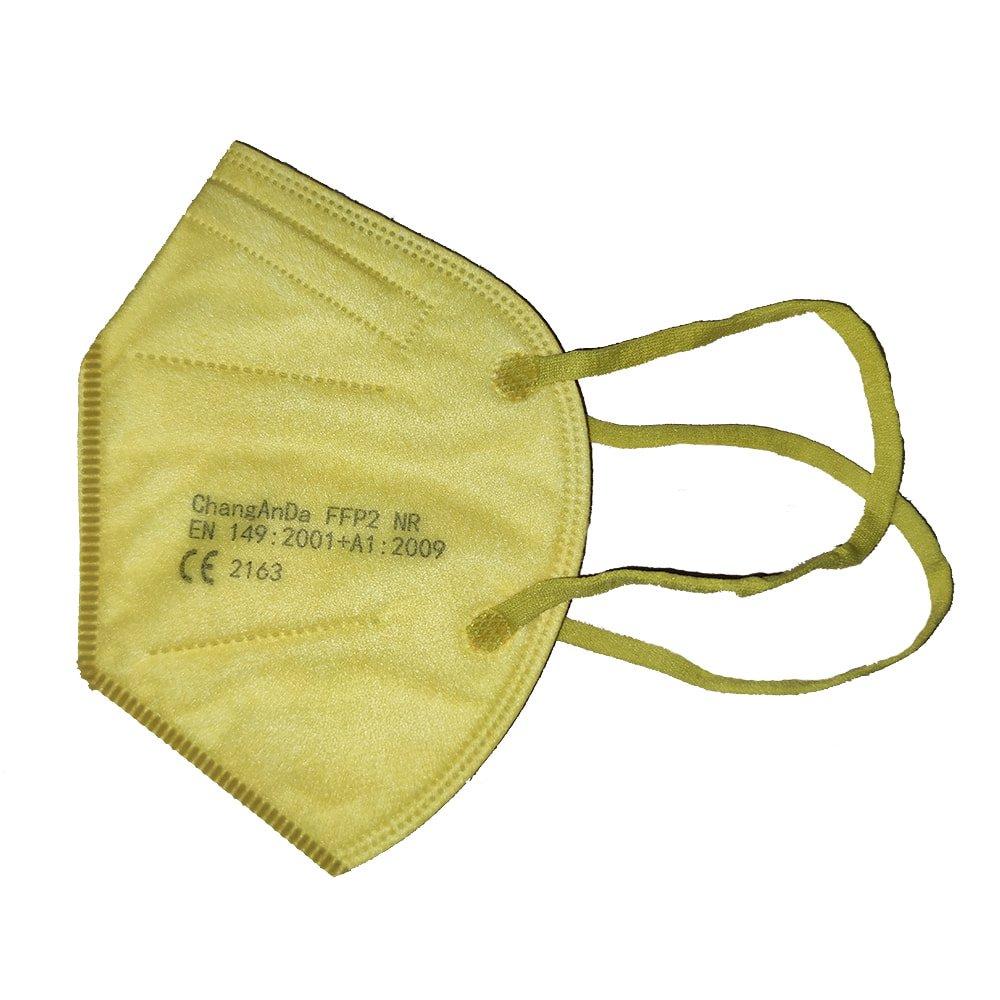 mascarilla ffp2 amarilla
