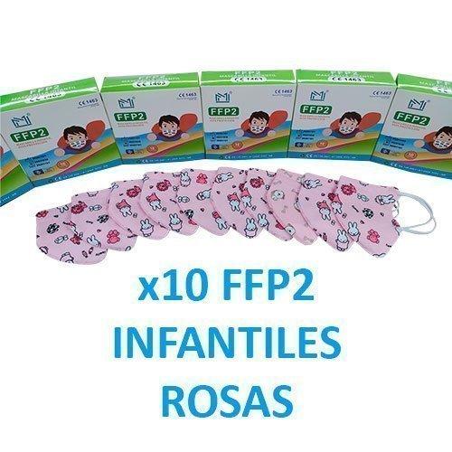 mascarillas ffp2 rosas para niñas