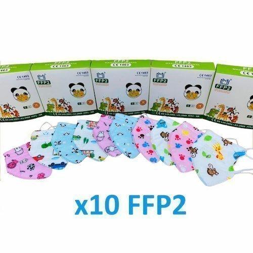 mascarillas ffp2 infantiles de colores
