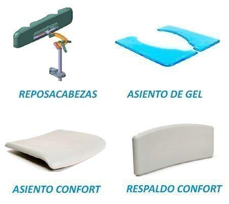accesorios silla de ducha y wc pluo
